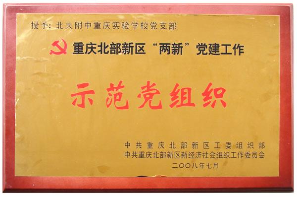 """重庆北部新区""""两新""""党建示范党组织"""